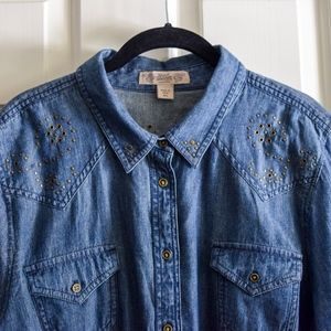 (SOLD) Nine West Vintage America Denim Shirt